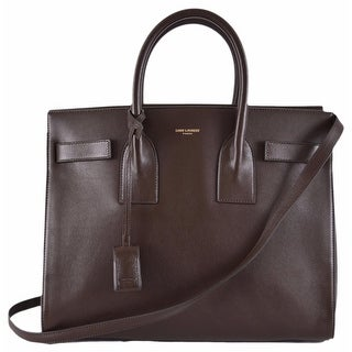 "Yves Saint Laurent YSL Brown Leather Sac de Jour Small Handbag Purse W/Strap - 12.5"" x 10"" x 6.25"""
