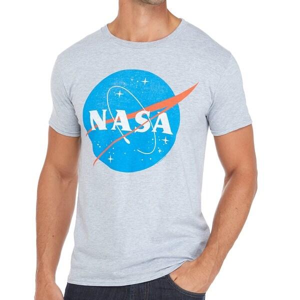 4490d8d0 Shop Bioworld NEW Gray Mens Size Large L NASA Crewneck Graphic Tee T ...