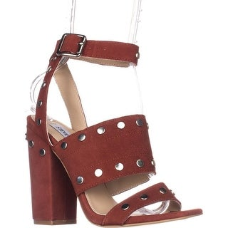 Steve Madden Jansen Ankle-Strap Dress Sandals, Rust Leather