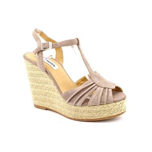 Steve Madden Womens Mammbow Open Toe Casual Platform Sandals