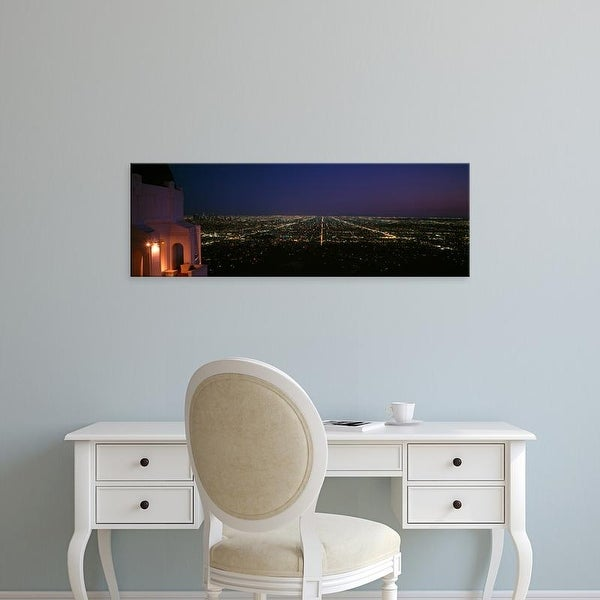 Easy Art Prints Panoramic Images's 'Griffith Park Observatory, Griffith Park, Los Angeles, California' Canvas Art