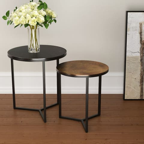 "Warrick Metal Nesting Tables, Set of 2 - 20"" x 20""x 21"""