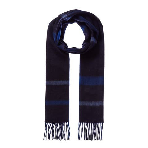 Qi 3 Color Plaid Cashmere Scarf - NoSize