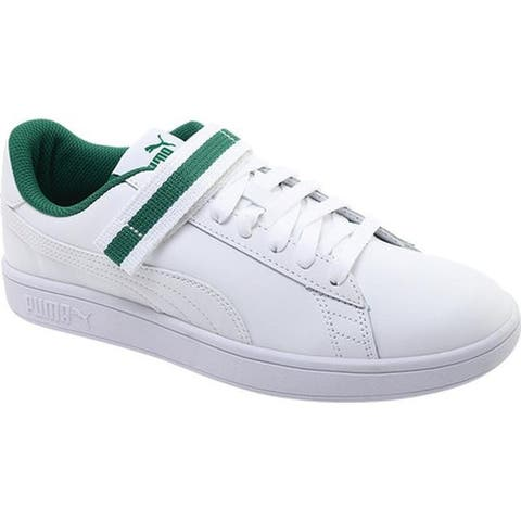 5b29eed40503 PUMA Men s Smash V2 V Fresh Sneaker Puma White Puma White Amazon Green