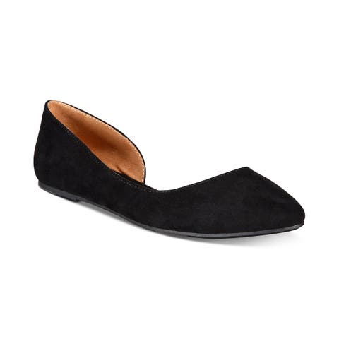 Material Girl Womens Mabel Pointed Toe Ballet Flats