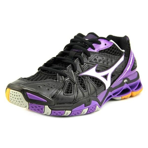Mizuno Wave Tornado 9 Women Round Toe Synthetic Black Running Shoe