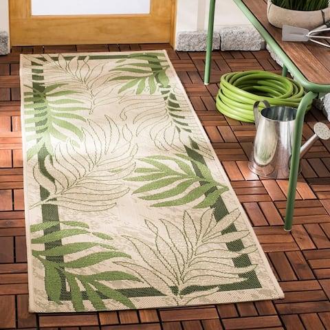 Safavieh Courtyard Rhonda Botanical Indoor/ Outdoor Rug