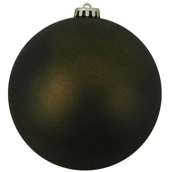 "Shatterproof Matte Olive Green Christmas Ball Ornament 10"" (250mm)"