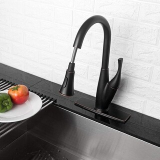 Link to Pull Down Single Handle Kitchen Faucet with Side Spray Similar Items in Faucets