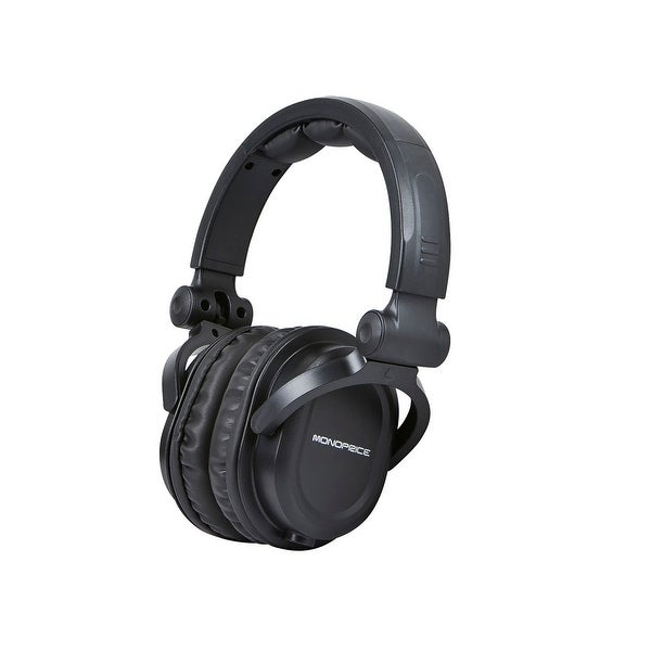 Monoprice Premium Hi-Fi DJ Style Over-the-Ear Pro Headphones With Micr. Opens flyout.