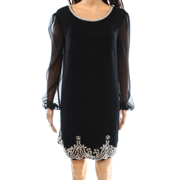 Ark & Co. NEW Black Women's Size Medium M Shift Embellished Dress