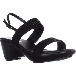 callisto Minna Comfort Wedge Sandals - Black