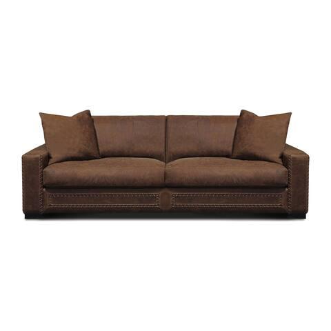 Downtown Cowboy Top Grain Leather Modern Sofa