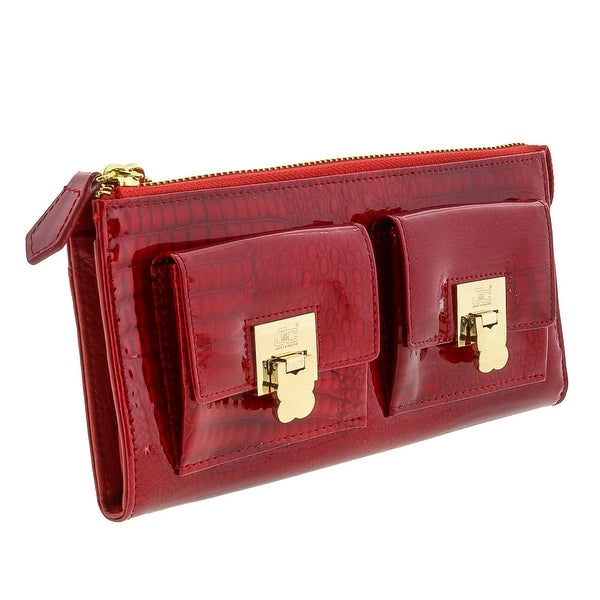 Jacky&Celine J11-012 Zippered Large Wallet