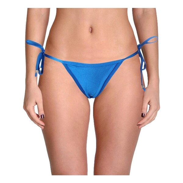 Hotsauce Style Womens Shirred Side Tie Swim Bottom Separates