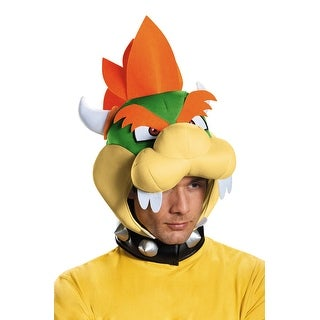 Disguise Bowser Adult Headpiece - Green
