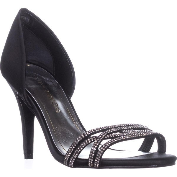 Caparros Irina Evening Pumps, Black Satin - 8.5 us