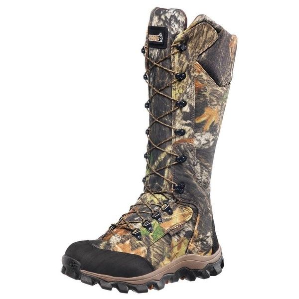 """Rocky Outdoor Boots Mens 16"""" Lynx Snakeproof Mossy Oak FQ0007379"""