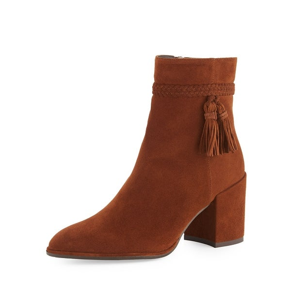 Stuart Weitzman Womens Tazzie Suede Closed Toe Ankle Fashion Boots