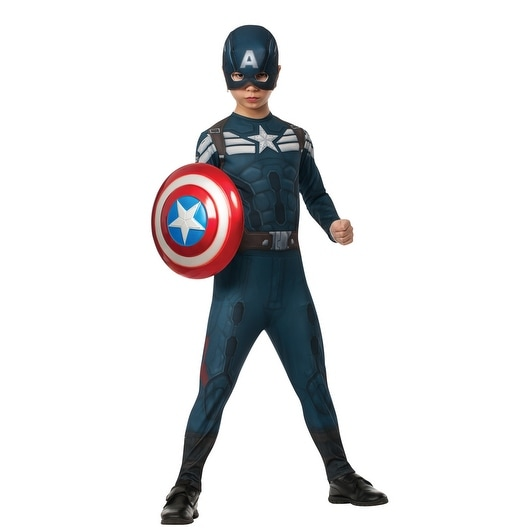 Kids Captain America Stealth Suit Halloween Costume