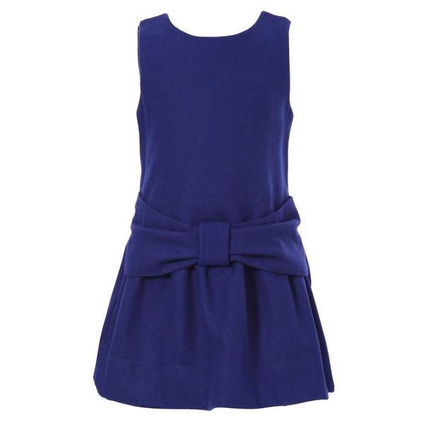 Richie House Baby Girls Marine Big Bow Cute Dress 12M