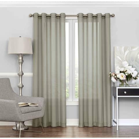 Eclipse Liberty Light-filtering Sheer Single Curtain Panel