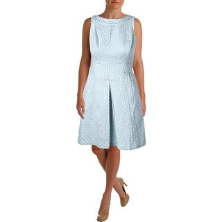 Lauren Ralph Lauren Womens Petites Metallic Sleeveless Cocktail Dress