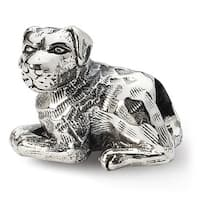 Sterling Silver Reflections Rottweiler Bead (4mm Diameter Hole)