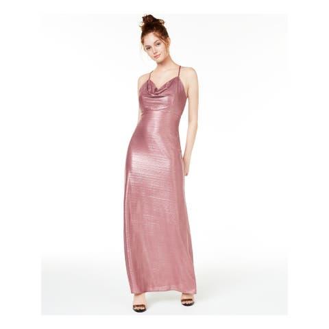 MORGAN & CO Pink Spaghetti Strap Maxi Dress 0
