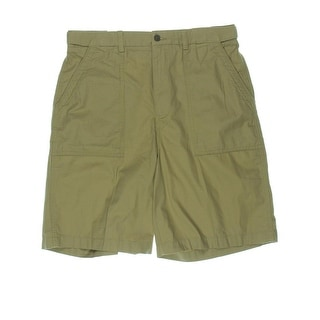 Geoffrey Beene Mens Flat Front Extender Casual Shorts