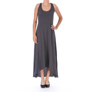 Elizabeth and James Womens Kennedy Slub Lace-Up Tank Dress