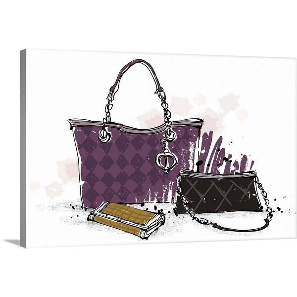 """Feminine Bags"" Canvas Wall Art"