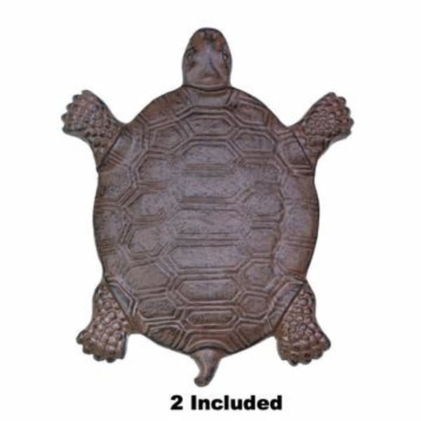 Set of 2 Cast Iron Turtle Garden Stepping Stones