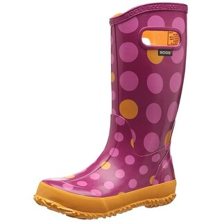 Bogs Kids Dots Waterproof Rain Boot, 9 M US Toddler - 1 m us little kid