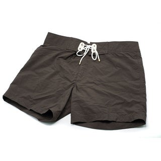 Tom Ford Men's Solid Brown Swim Trunks W/ Drawstrings - 32