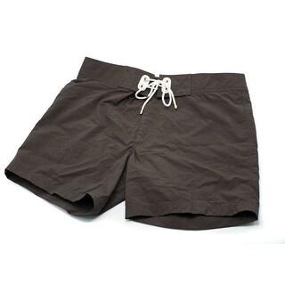 Tom Ford Men's Solid Brown Swim Trunks W/ Drawstrings - 32
