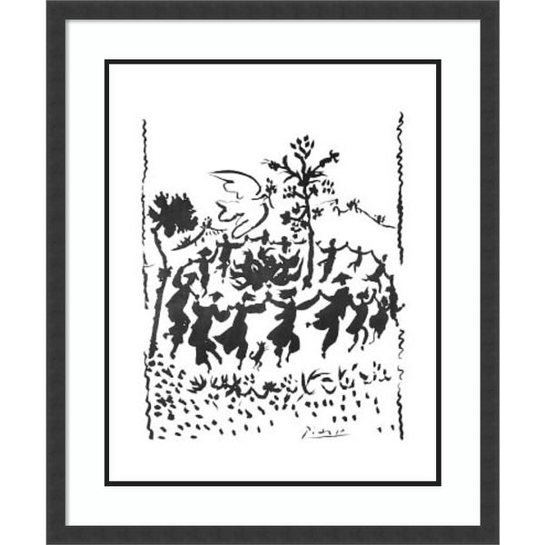 Framed Art Print 'Long Live Peace' by Pablo Picasso 30 x 36-inch. Opens flyout.