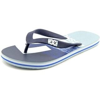 DC Shoes Spray Graffik Men Open Toe Synthetic Blue Flip Flop Sandal
