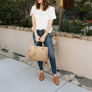 Dasein Women Briefcase Satchel Handbag with Matching Wristlet