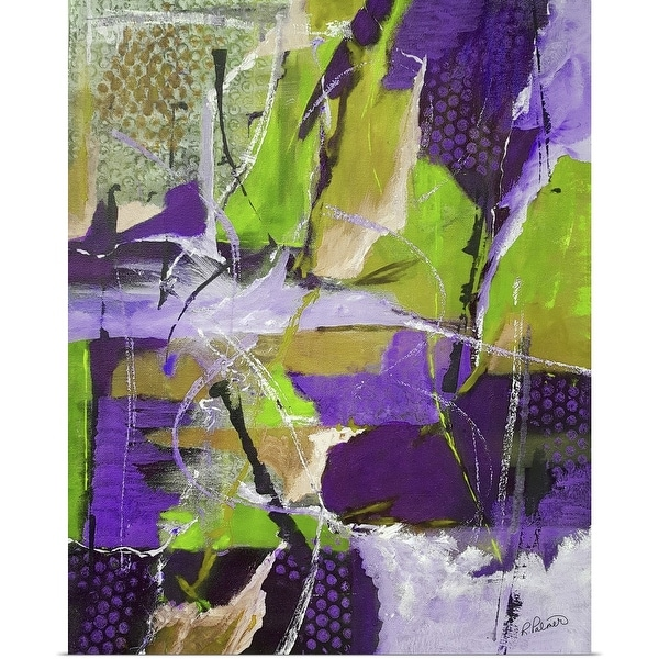 """""""Rough And Tumble Lime Purple"""" Poster Print"""