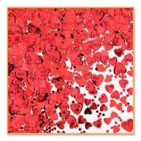 Pack of 6 Metallic Red Heart Valentine's Day Celebration Confetti Bags 0.5 oz.