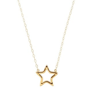 Just Gold Small Open Star Necklace in 10K Gold - Yellow
