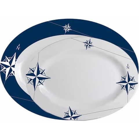 """Northwind Oval Serving Platters - 2-Pc. Set - 14"""" L x 10""""W/12"""" L x 9"""" W"""