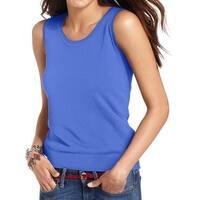 August Silk Womens Pullover Sweater Silk Blend Jewel Neck
