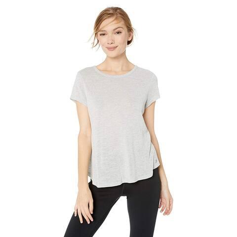 Calvin Klein Performance Women's Overlapping Ruffle Back Pearl Grey, XL