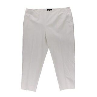 Lafayette 148 Womens Plus Slim Leg Dress Cropped Pants - 18