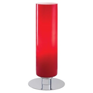 Kovacs P664-077 Single Light Specialty Accent Table Lamp with Red Cased Shade from the Decorative Portables Collection