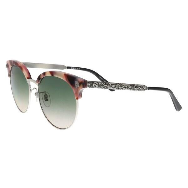 1d9704b8ef Shop GUCCI GG0222SK 005 Rose Silver Cat Eye Sunglasses - On Sale ...