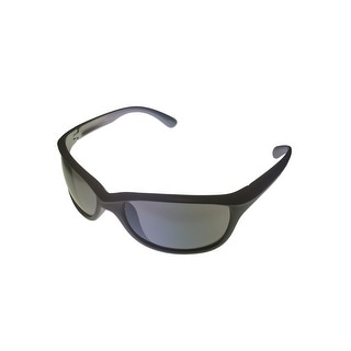 Timberland Mens Sunglass Grey Plastic Wrap, Blue Flash Lens TB7117 20C - Medium