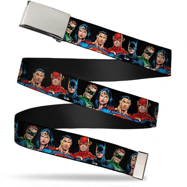 Blank Chrome Buckle Justice League Elite Forces Superheroes Webbing Web Belt